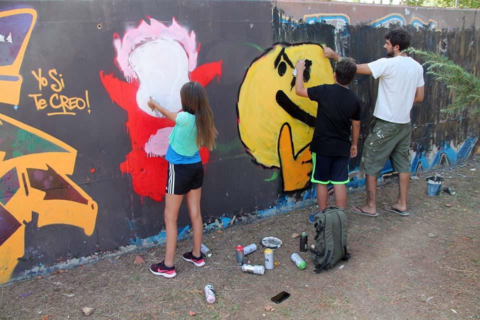 planes con niños madrid, graffiti