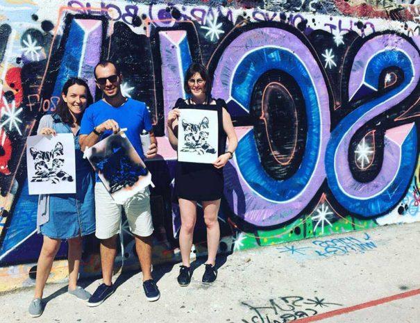 Regalo que hacemos en el tour de arte urbano en Lavapies