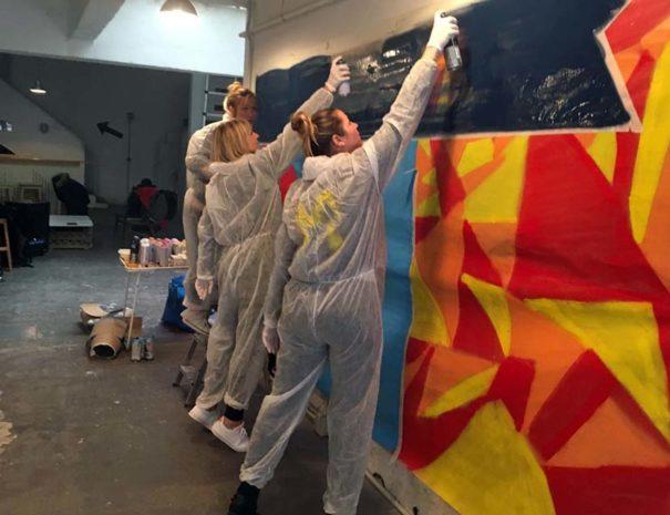 taller de graffiti en Madrid para empresas