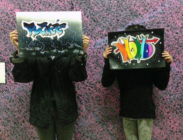 Taller de graffiti con niños