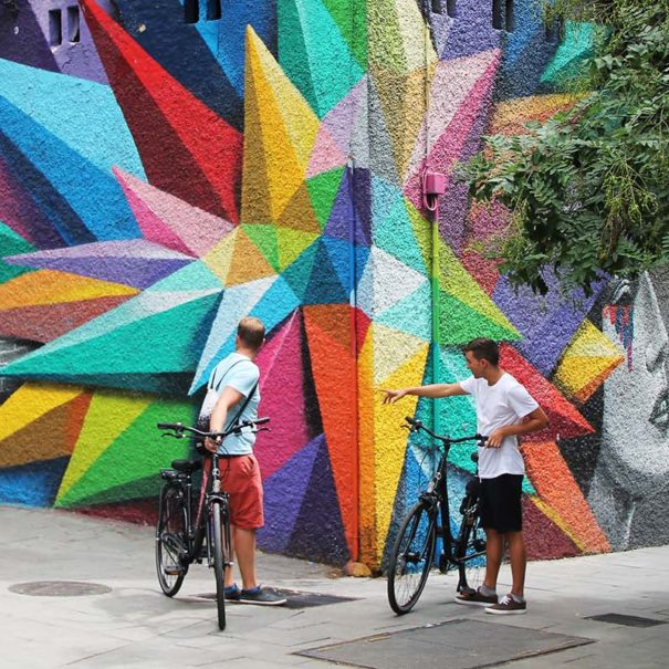 tour de arte urbano en bici por Madrid en español