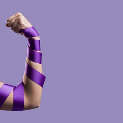Color morado, simbolo feminista