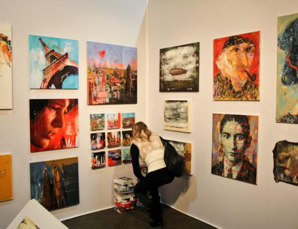 Obras expuestas durante nuestro tour de arte contemporáneo en Madrid