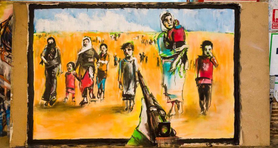 ze carrion y el arte urbano en Madrid ciudad