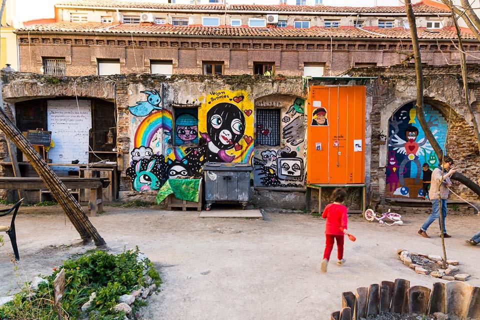 El mejor arte urbano en Madrid ciudad dentro de un huerto