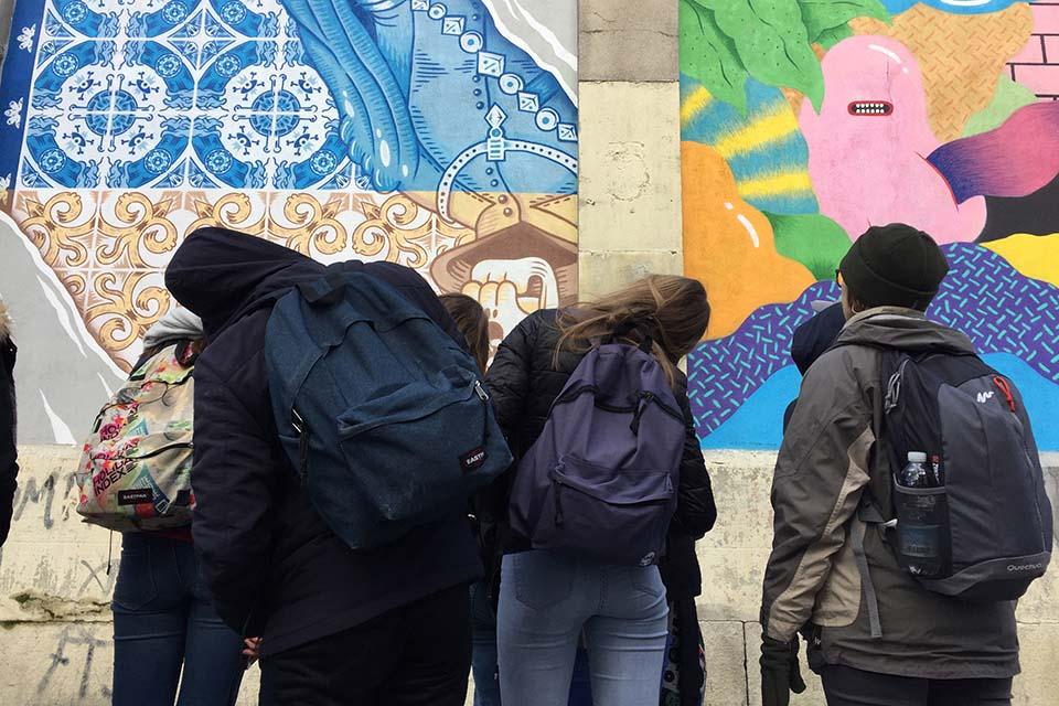 Grupo de visita artistica en Madrid