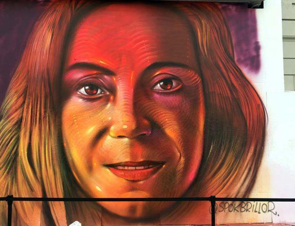 Mural del artista Spok Brillor