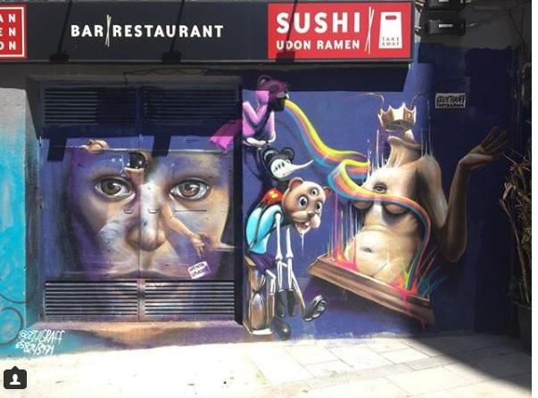 el mejor arte urbano en madrid ciudad de Zet Graf