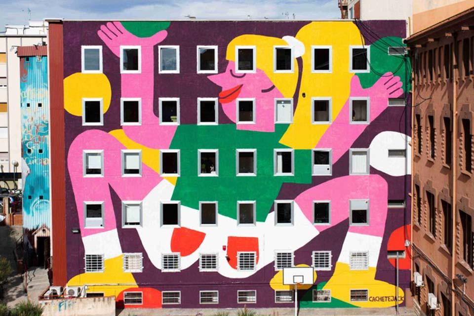 Mural de 5 plantas