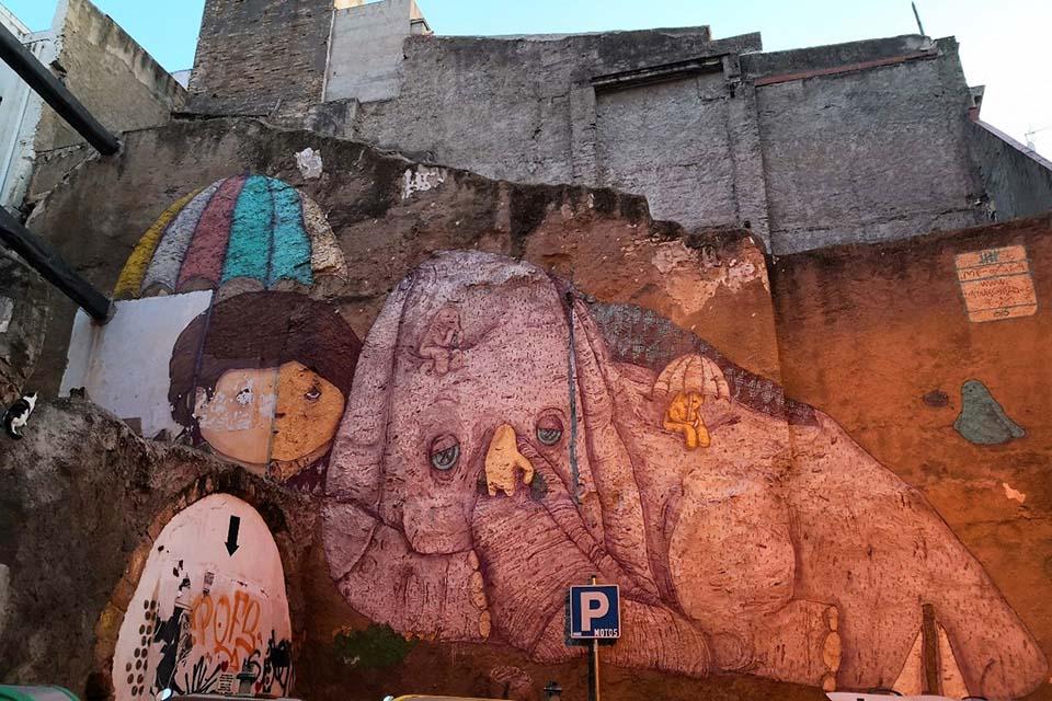 Pintura de arte callejero