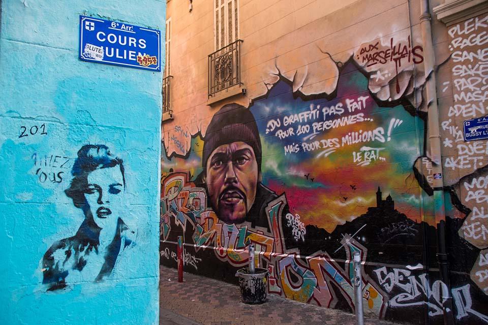 graffiti Marsella, Francia