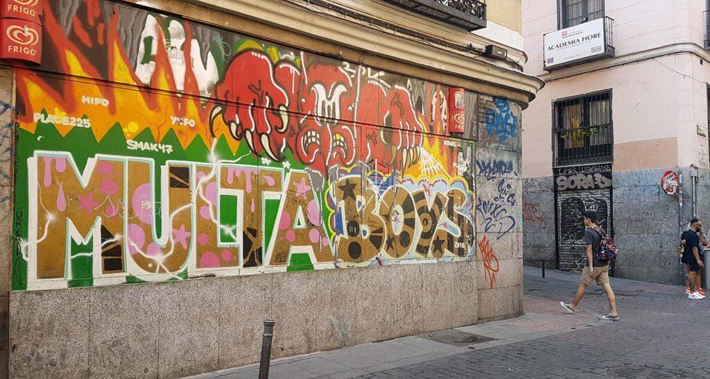 ruta de graffiti en Madrid