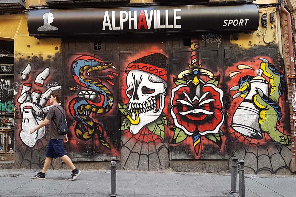 tour de arte urbano en Madrid