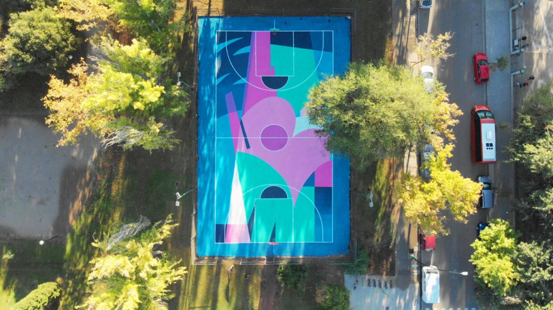 graffiti zaragoza vista aérea