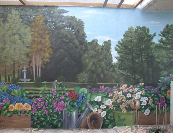 murales decorativos de paisajes verdes