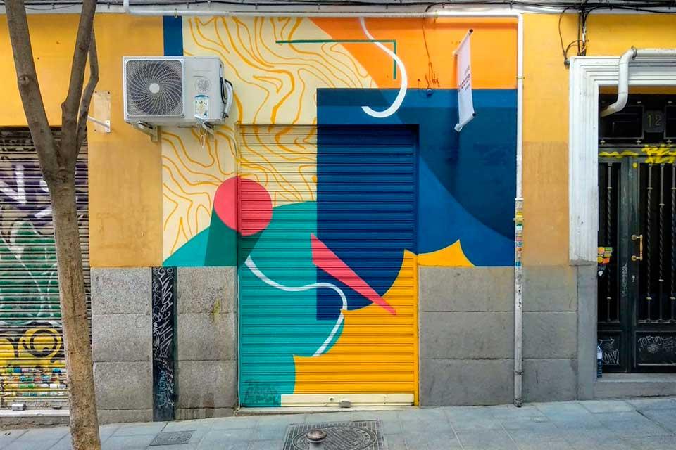 Graffitis artisticos en Lavapies