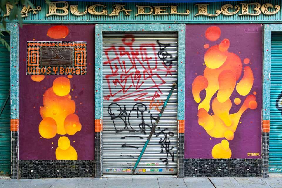 pompas y formas de graffiti