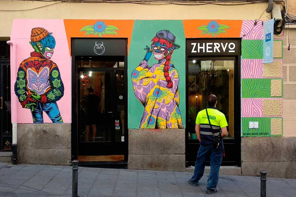 Artista festival arte urbano Madrid