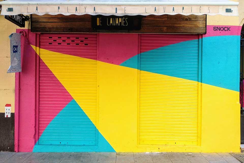 cuadros abstractos en la calle