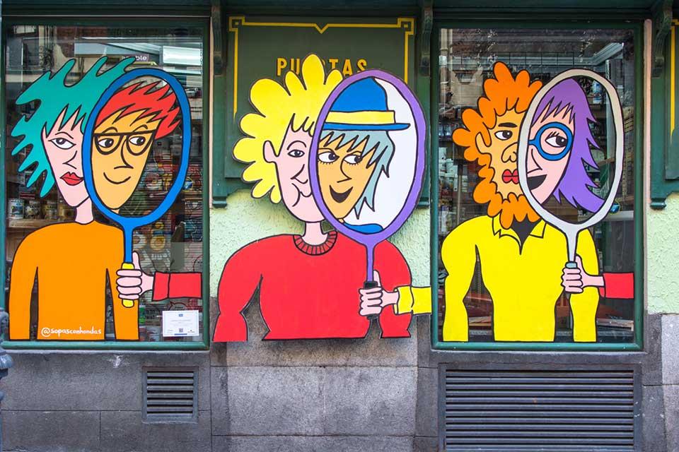 eventos de graffitis en Lavapies, Madrid