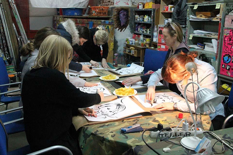 talleres de arte urbano en Madrid para eventos