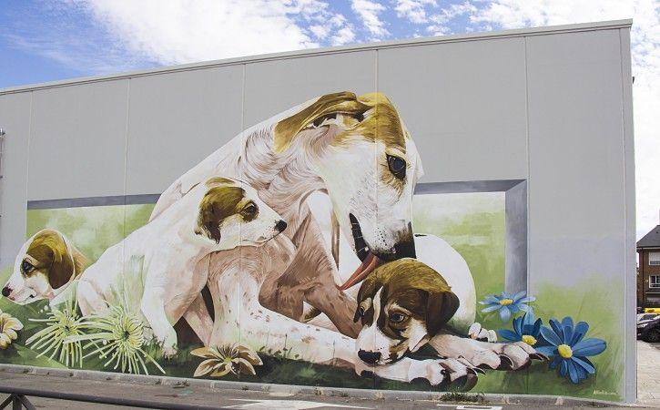 mural decorativo para tienda de animales