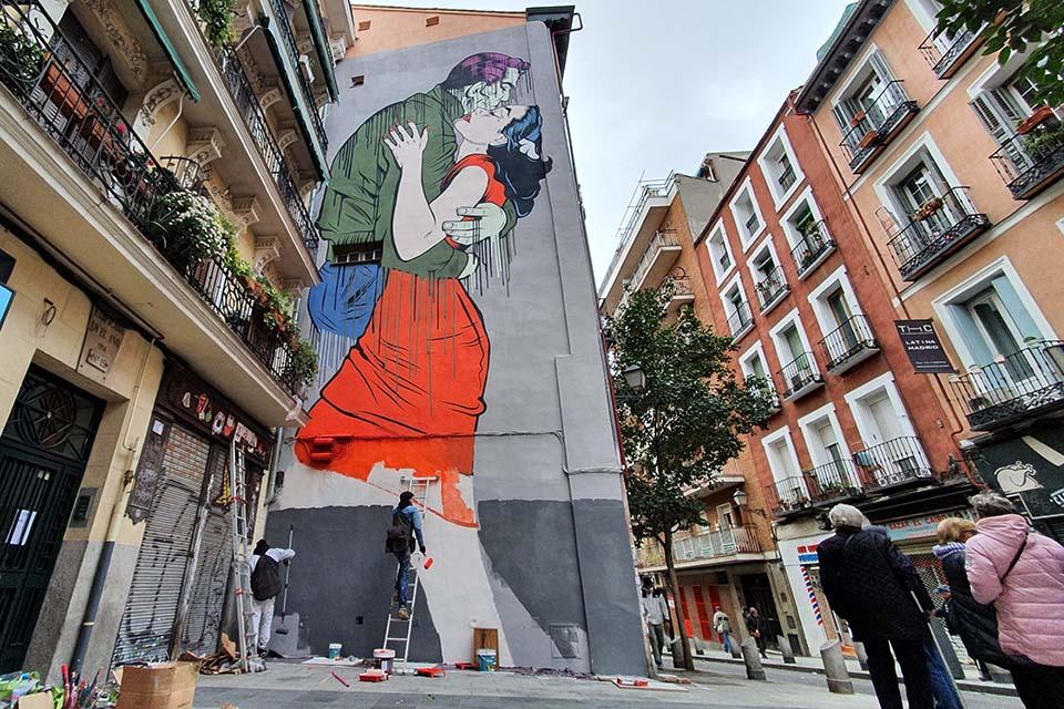graffitis lavapies calle embajadores