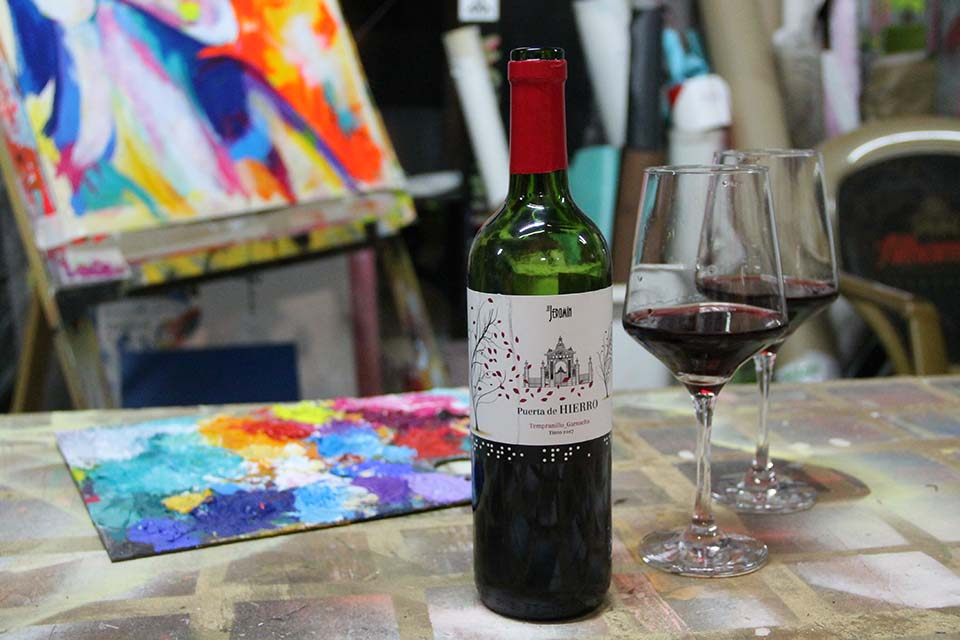 actividad de wine and canvas en madrid
