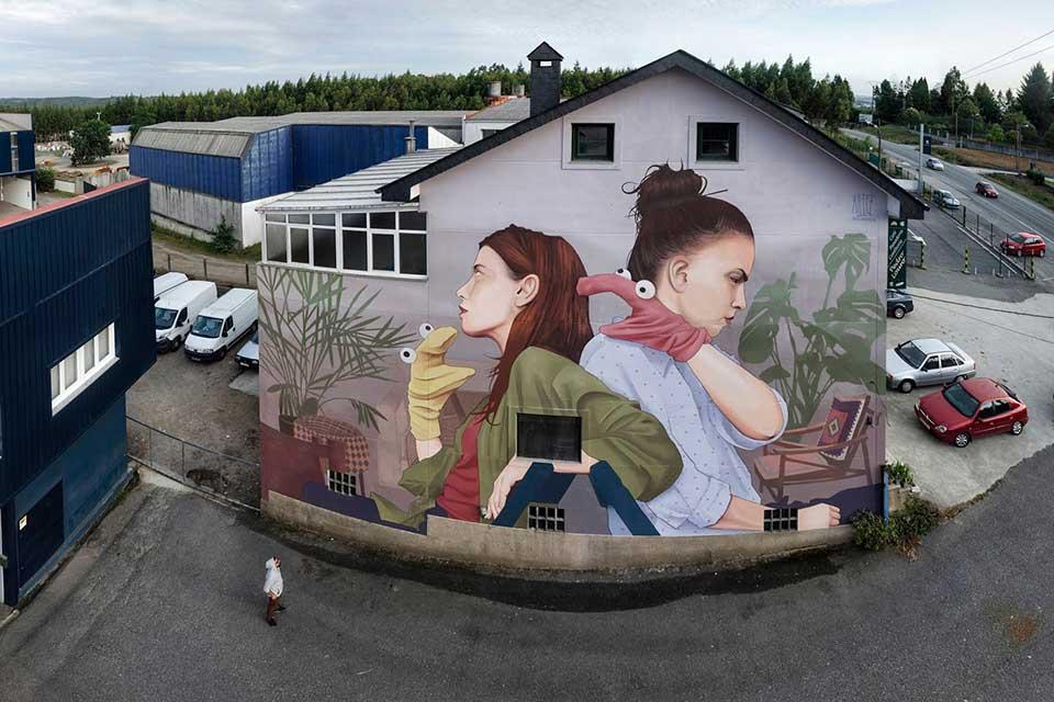 festival de arte urbano en el norte de España