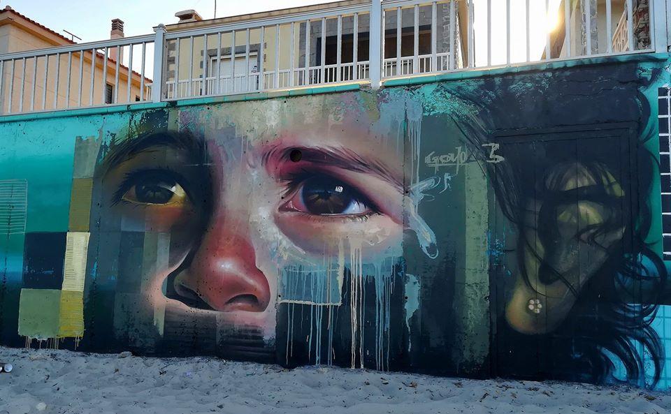 mural de arte urbano hiperrealista