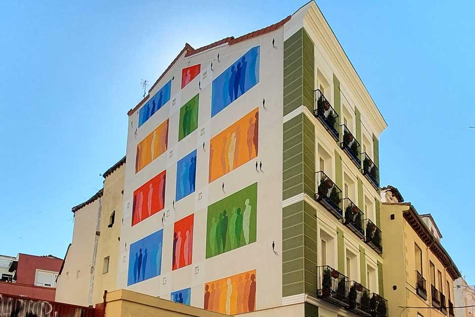 arte urbano sobre fachadas