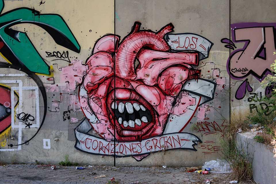 arte callejero túneles madrid
