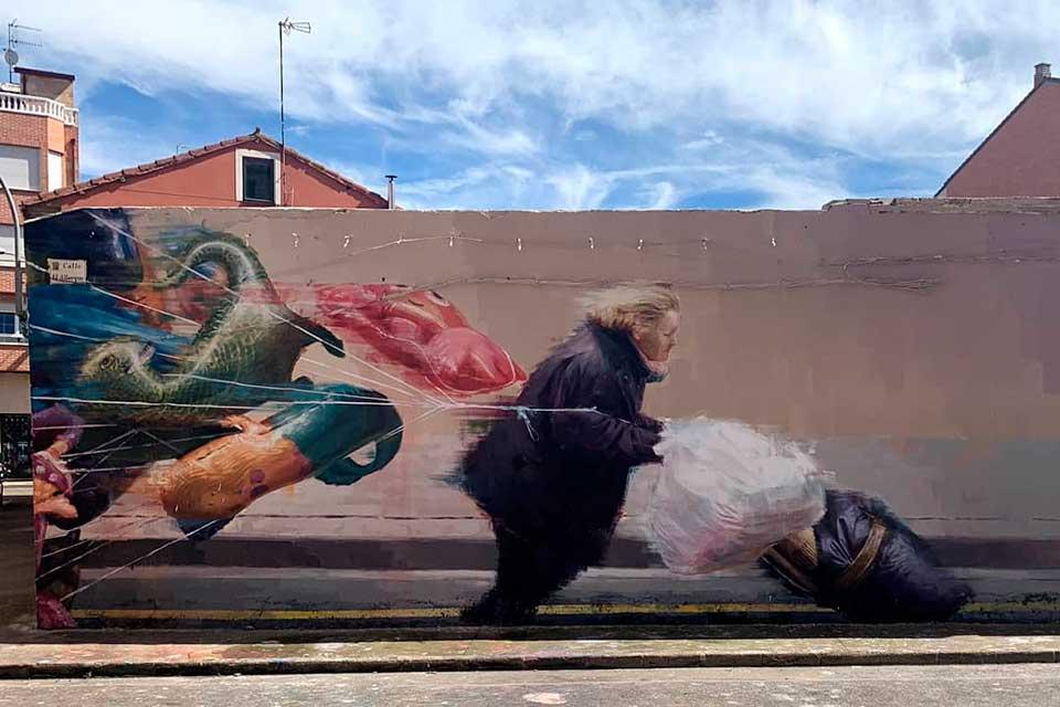 mural decorativo en la provincia de León