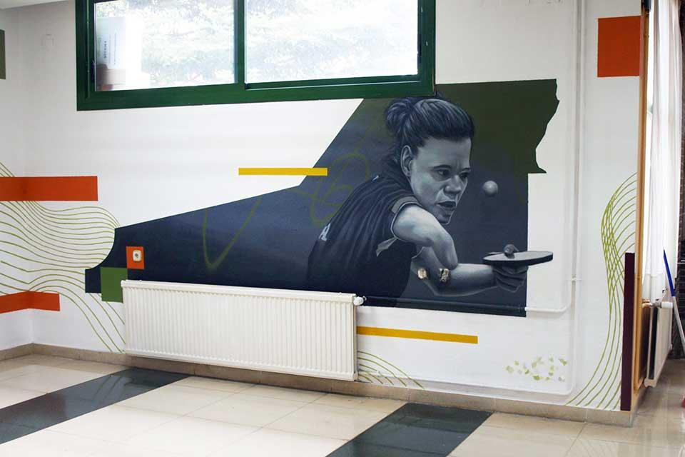 mural decorativo Madrid ciudad