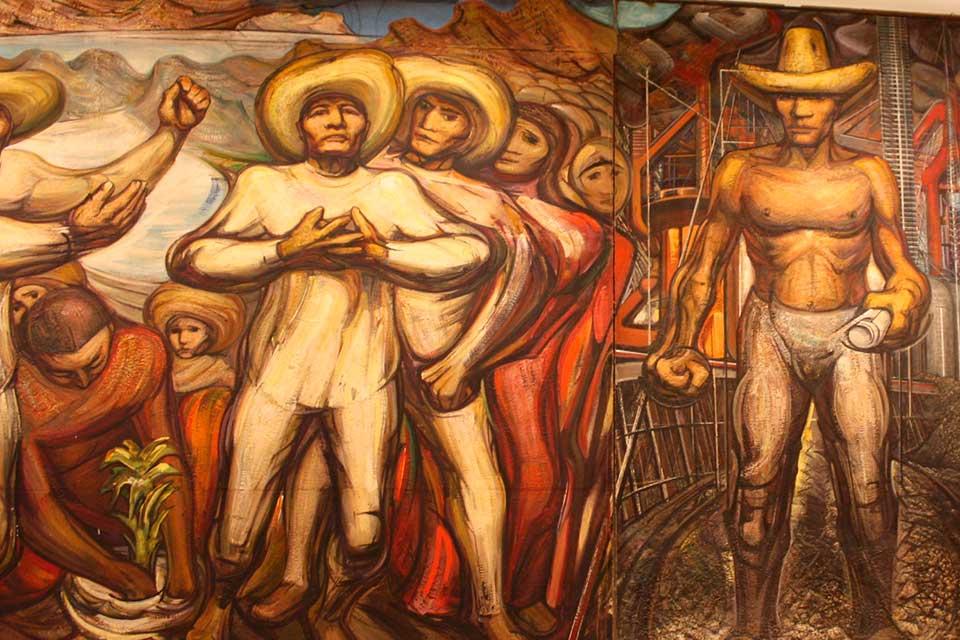 obra de muralismo en ciudad de mexico