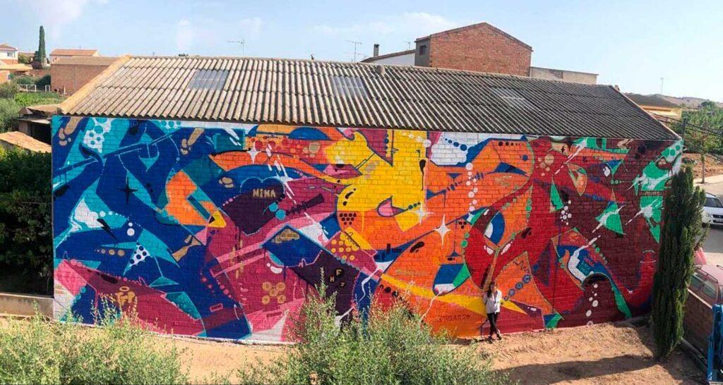 graffiti mural Penelles