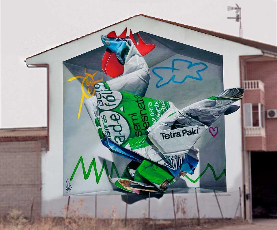 graffitis artísticos y arte reciclaje