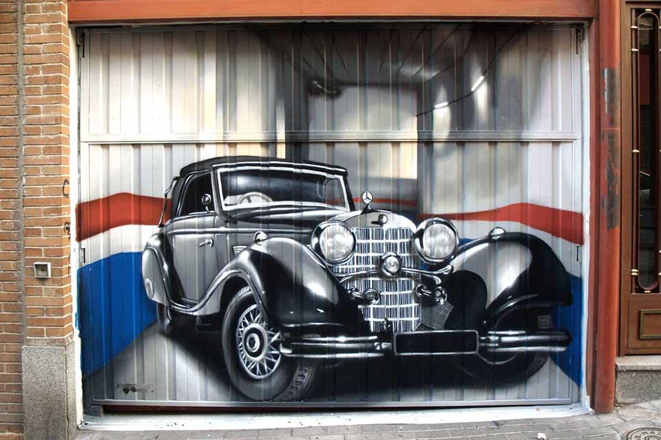 graffiti profesional parking y garajes Madrid