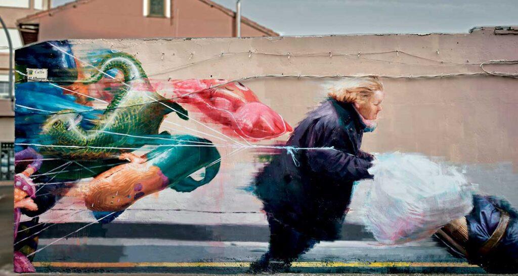 arte urbano y graffitis artísticos de slim safont