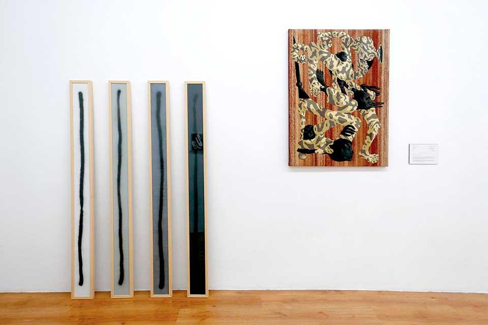 exposicion de arte urbano en una galeria de madrid