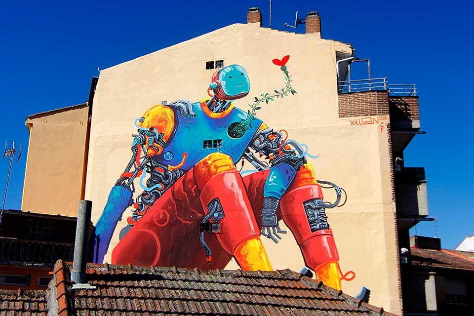 graffitis artísticos en Leon,  España