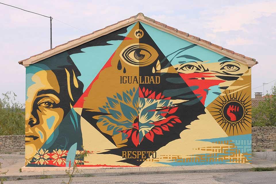 graffiti sobre igualdad y respeto