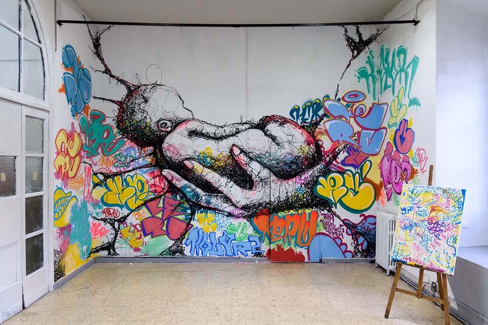 Obra de arte en La Tabacalera, Madrid