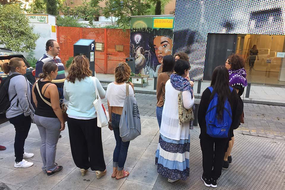 ruta de murales artísticos con invitados de Israel