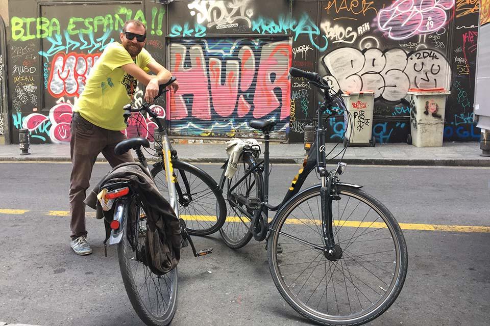 ruta de murales artísticos en bici Madrid