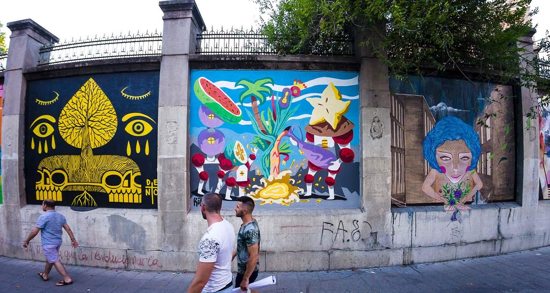 ruta de murales artísticos Madrid