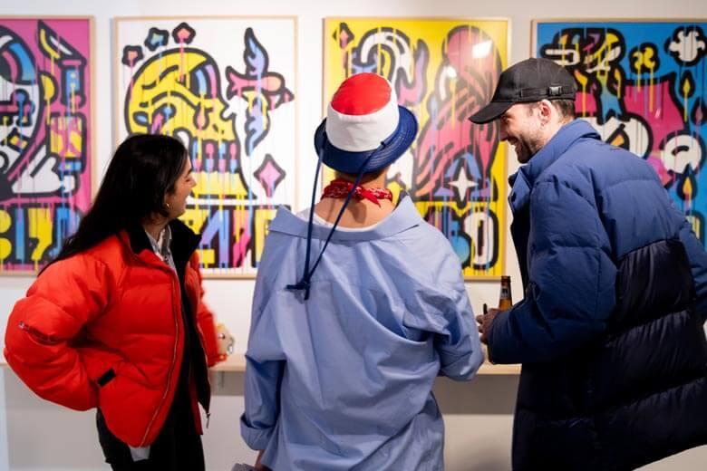 Feria de arte contemporaneo y graffitis en madrid centro