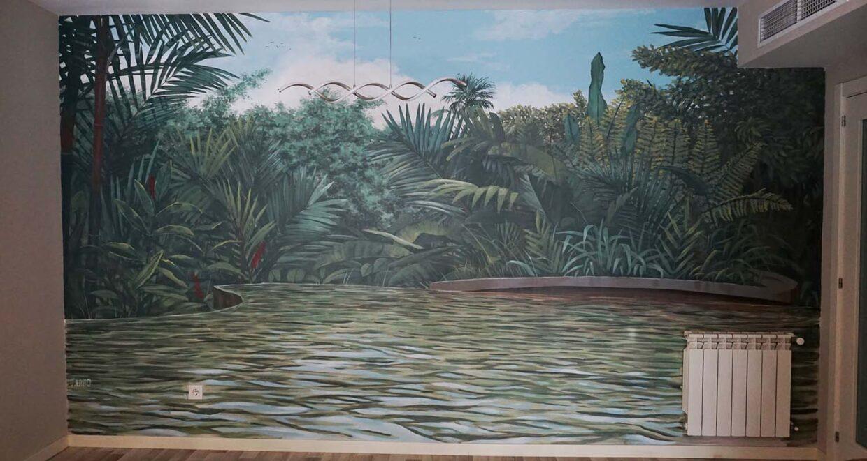 mural decorativo en interiores