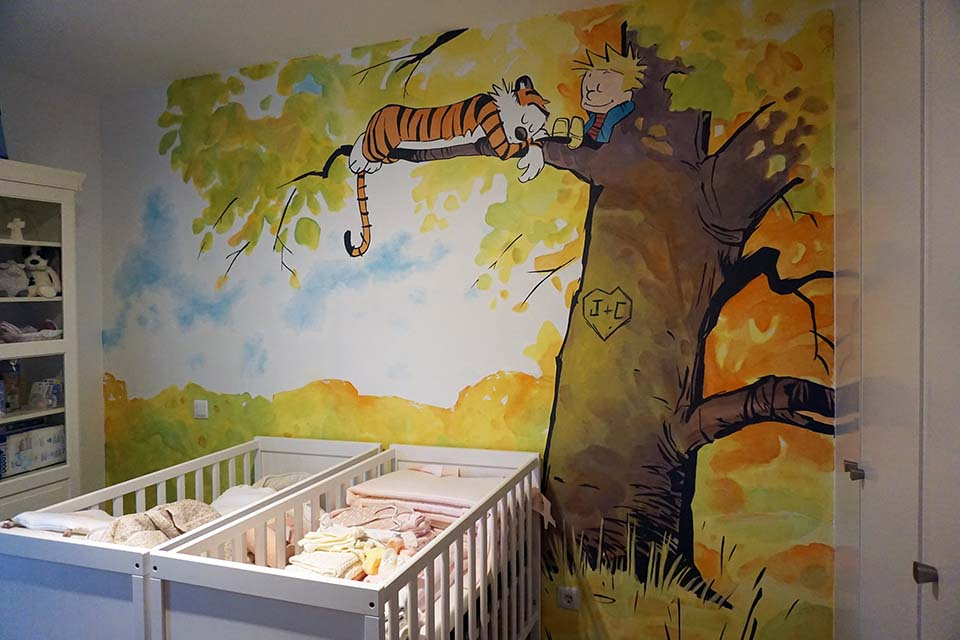 pintura decorativa en interiores para niños