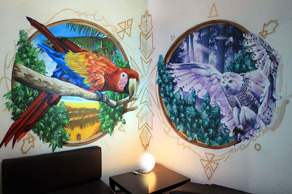 pintura decorativa en interiores privados